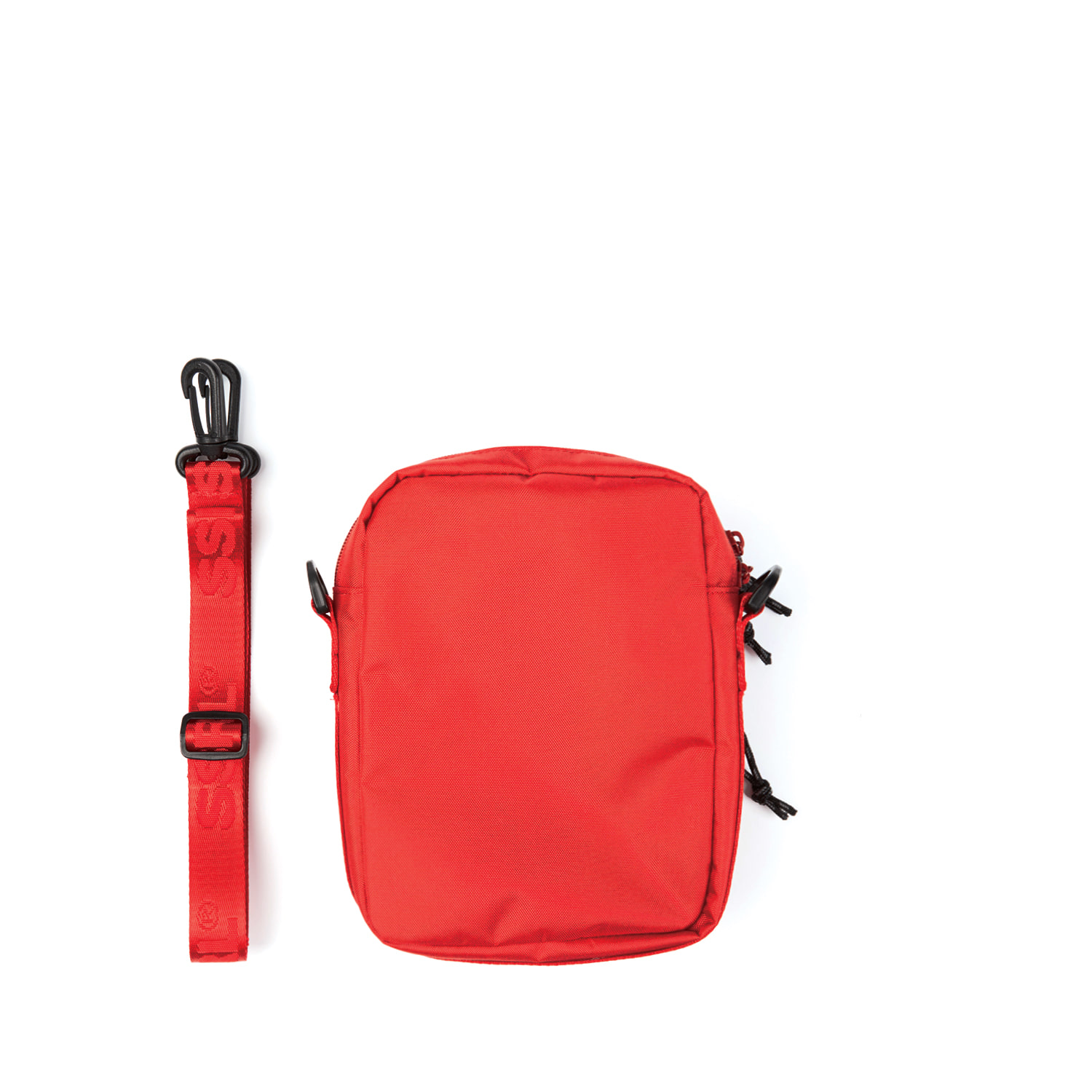 nylon cross bag / red
