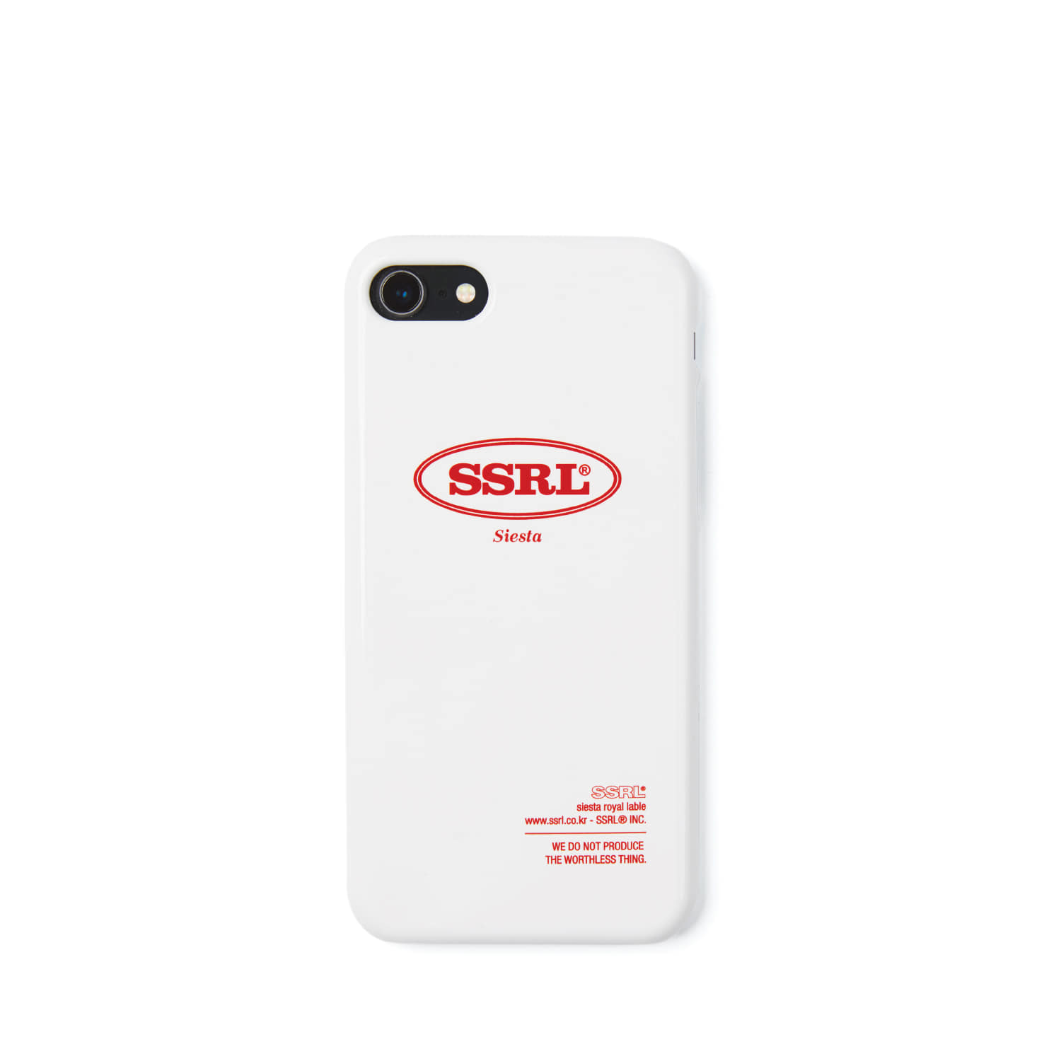 round logo hard case / white
