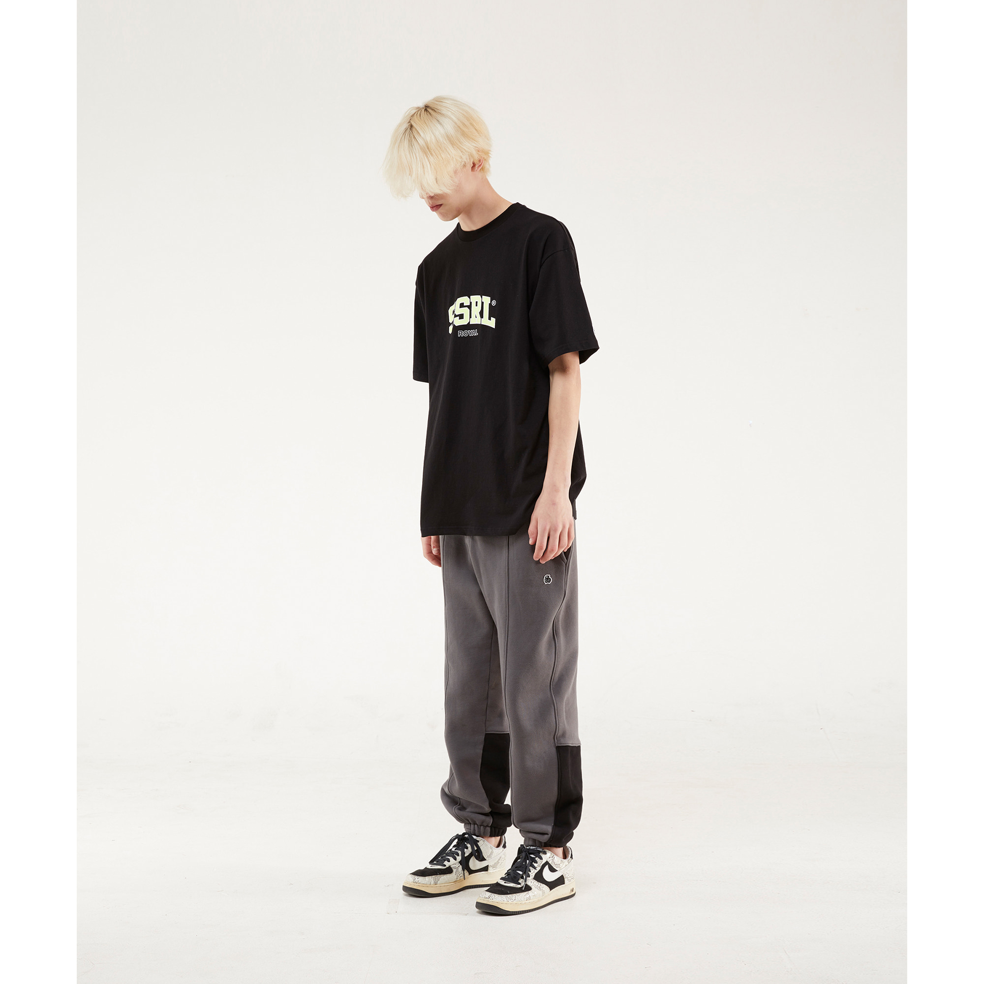 calf sweat pants / charcoal