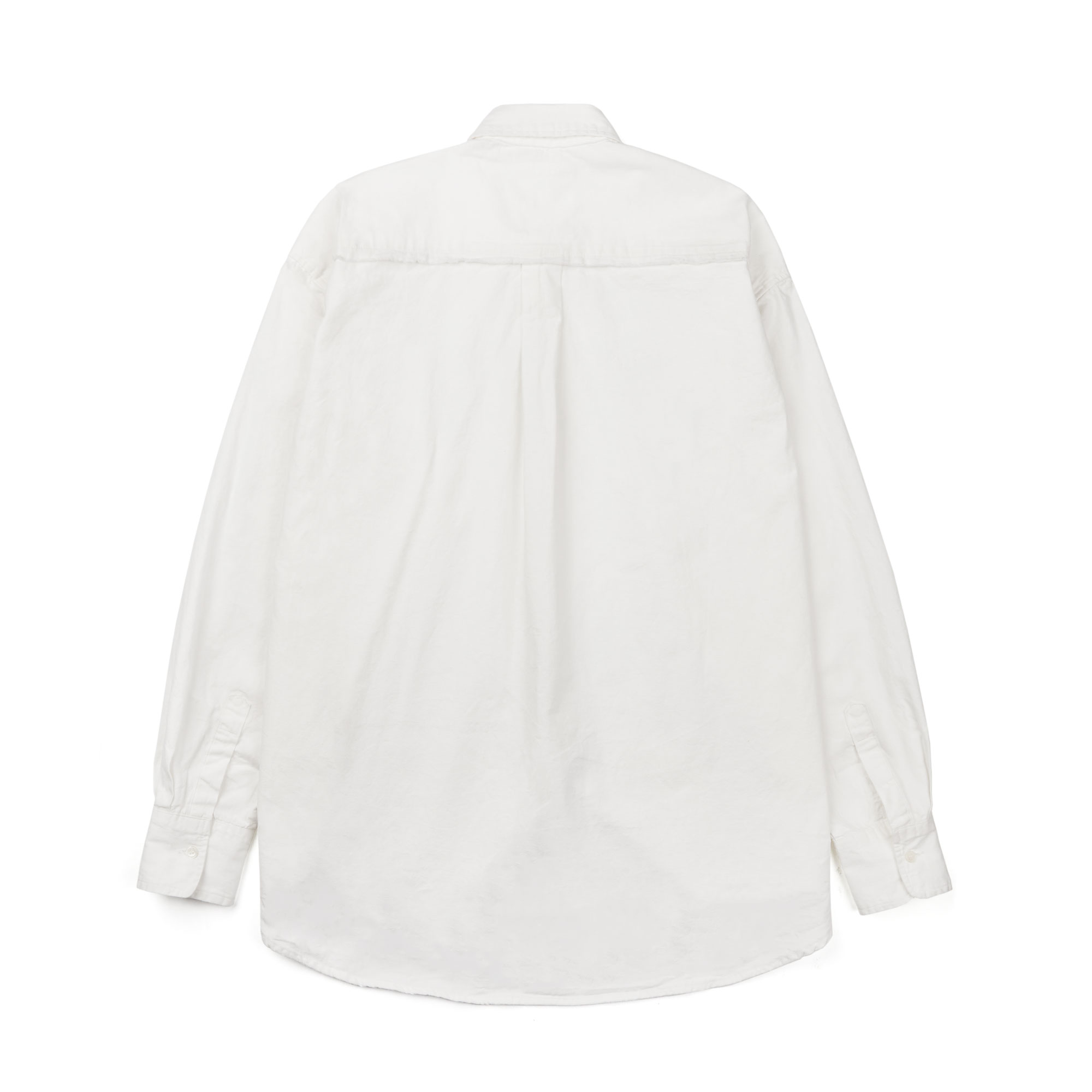 slant logo oxford shirt / ivory