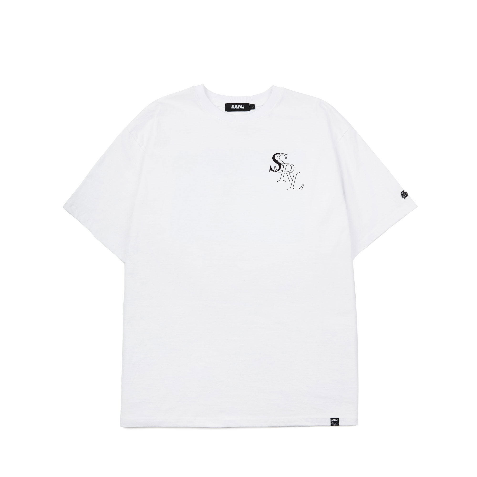 royal tee / white