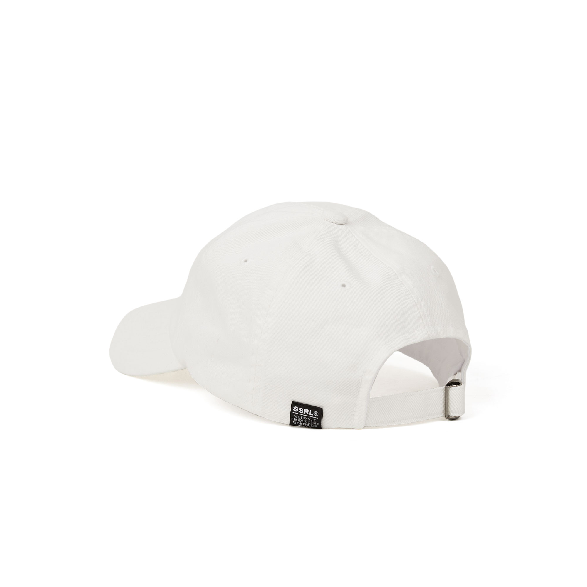 slant logo ball cap / white