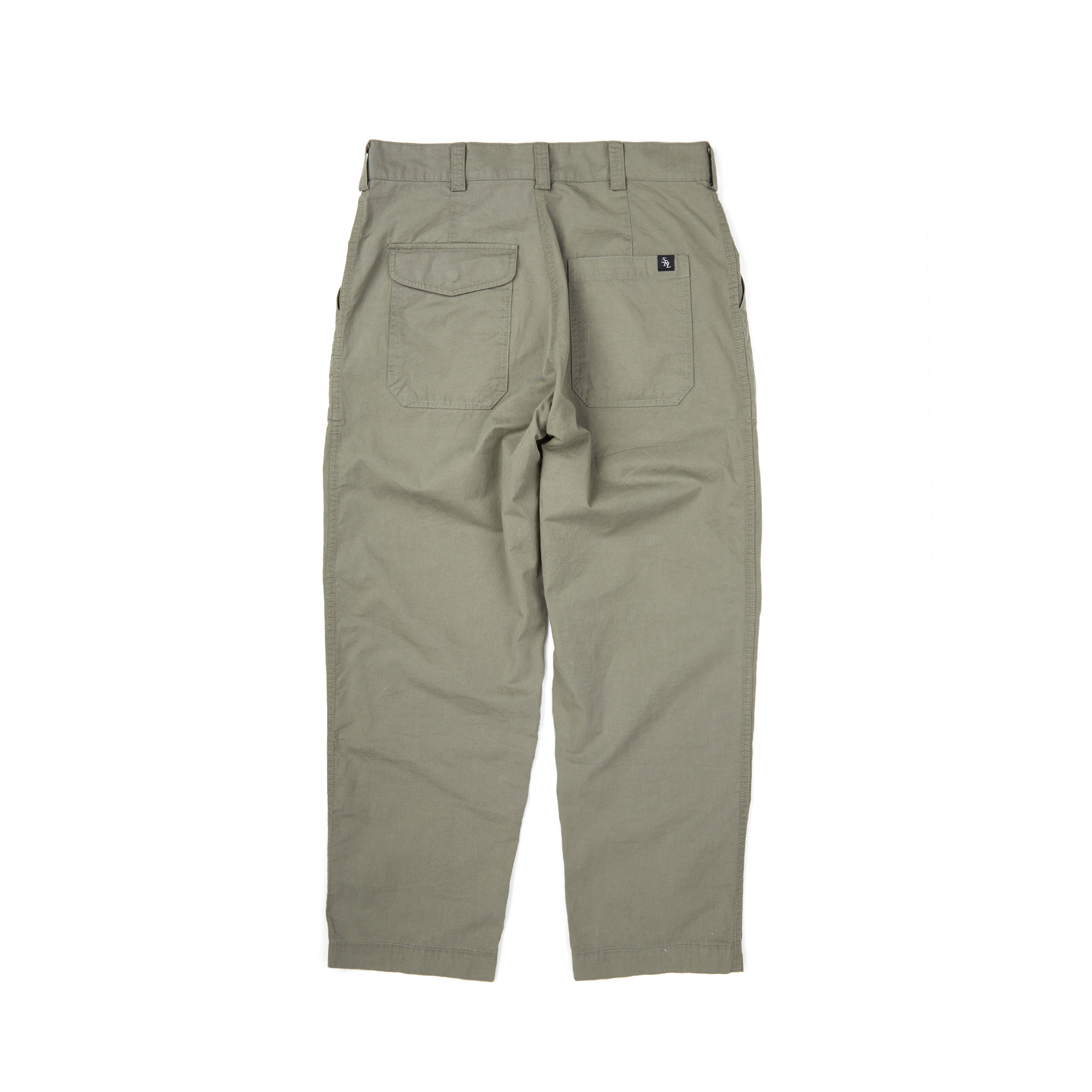 wide fatigue pants / khaki