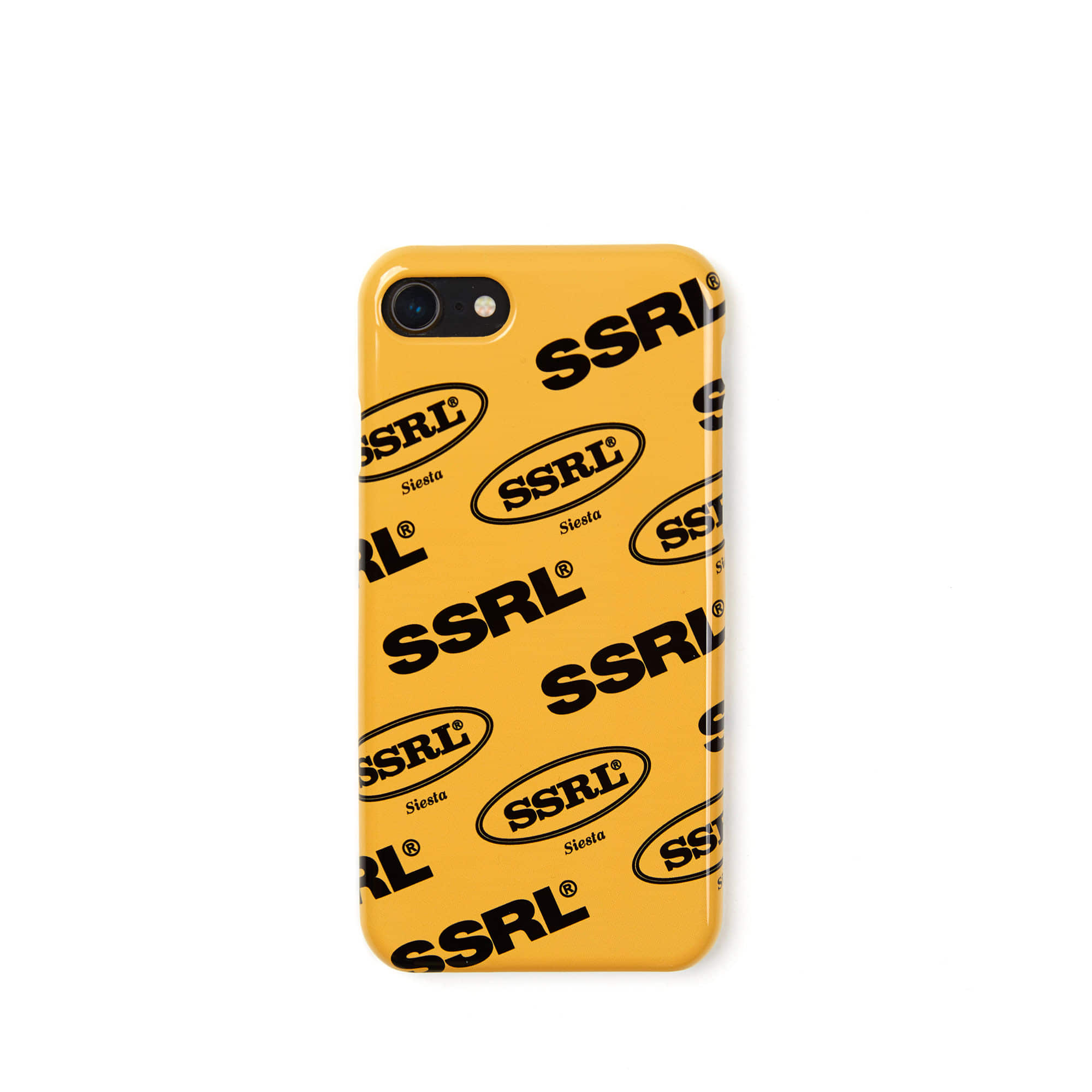 mix logo hard case / mustard