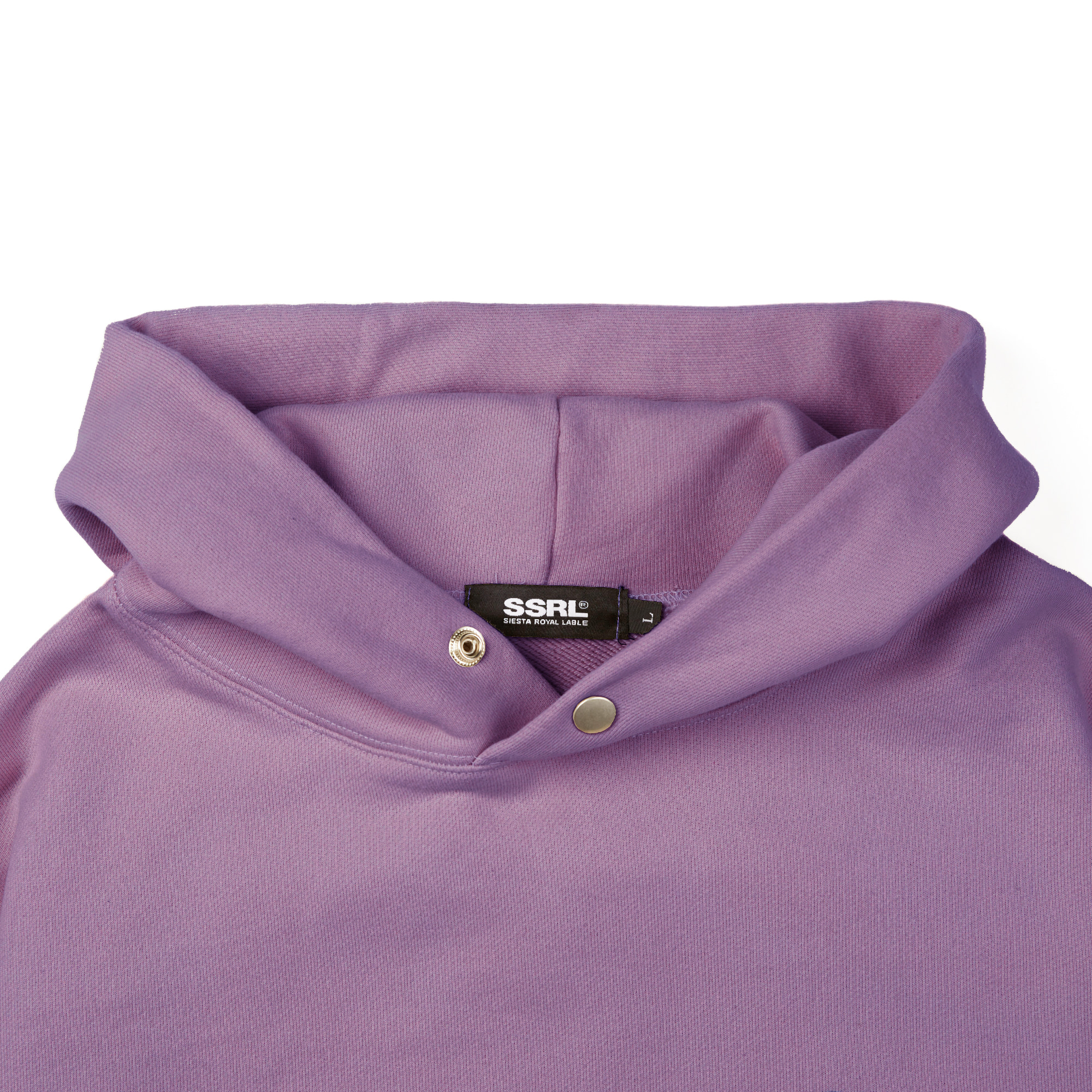 slant logo button hood / purple