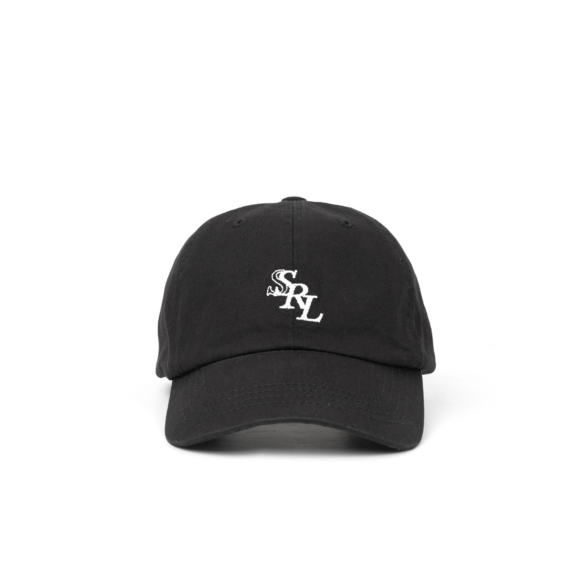 slant logo ball cap / black