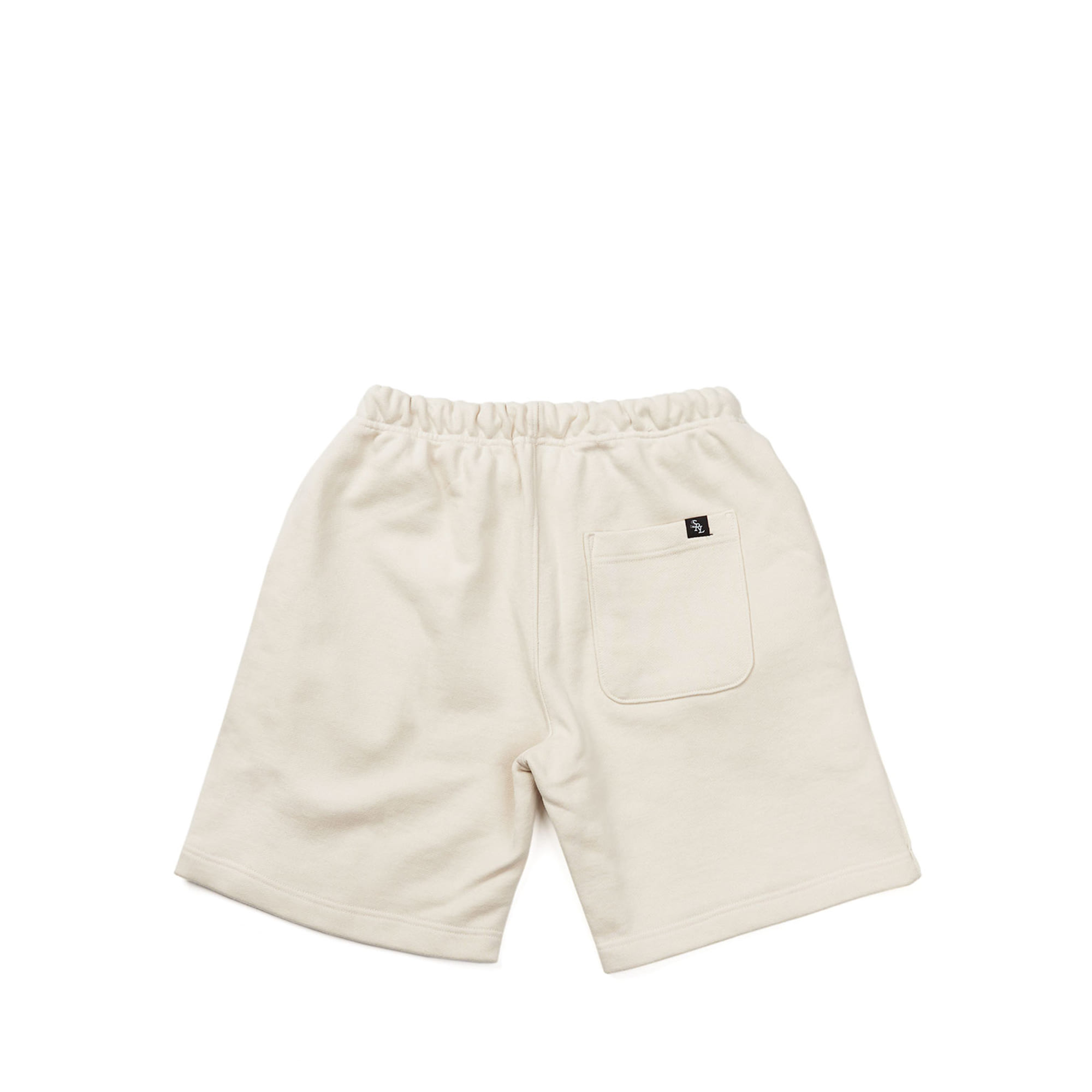 line sweat shorts / cream