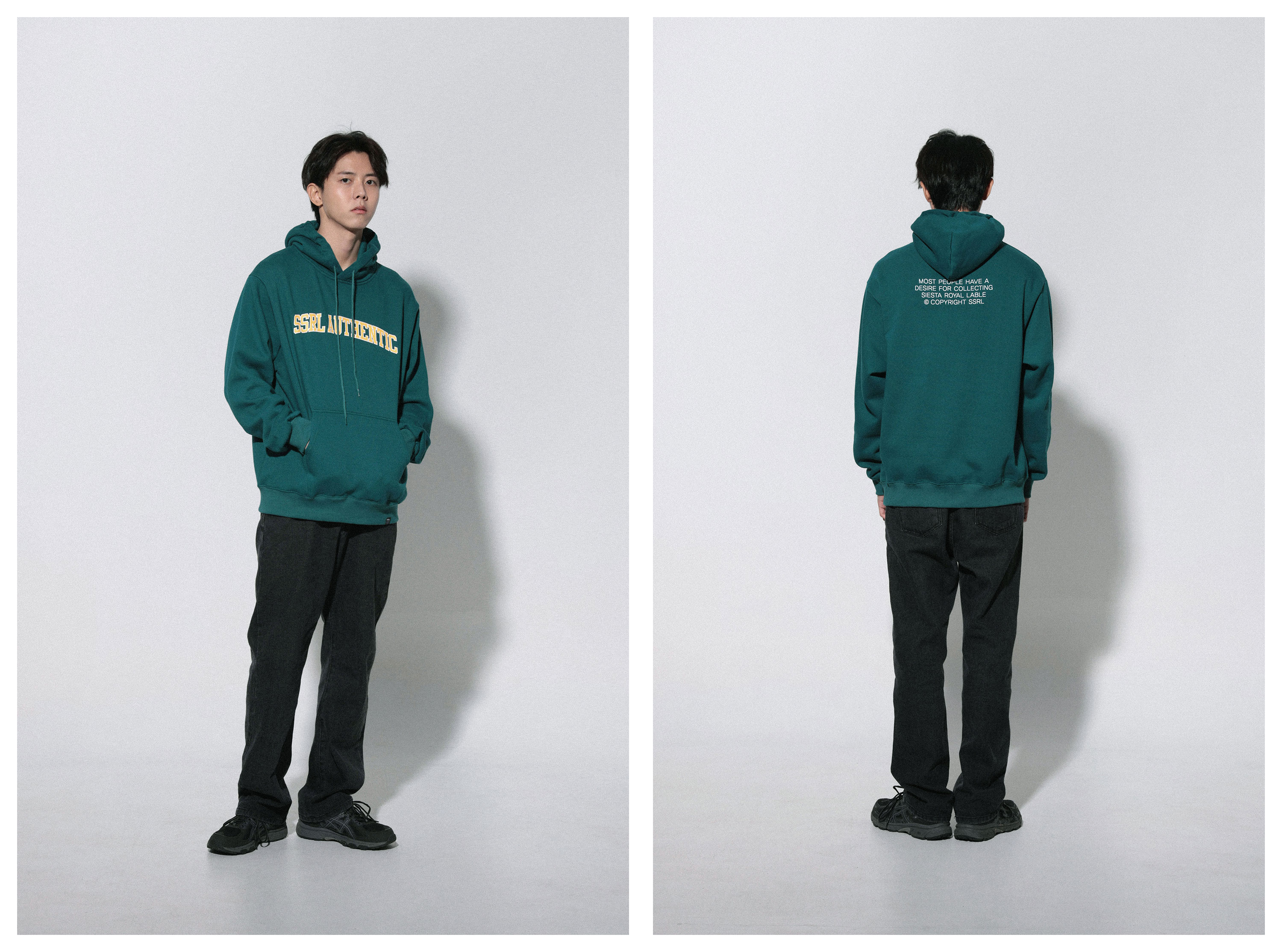 authentic hood / deep green