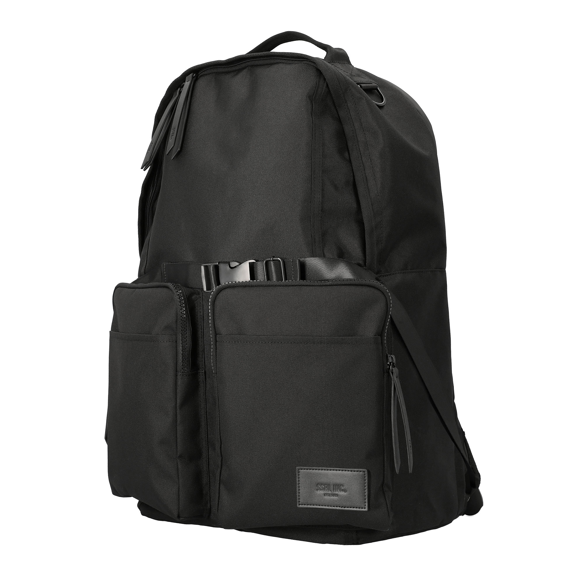 dual pocket backpack / black