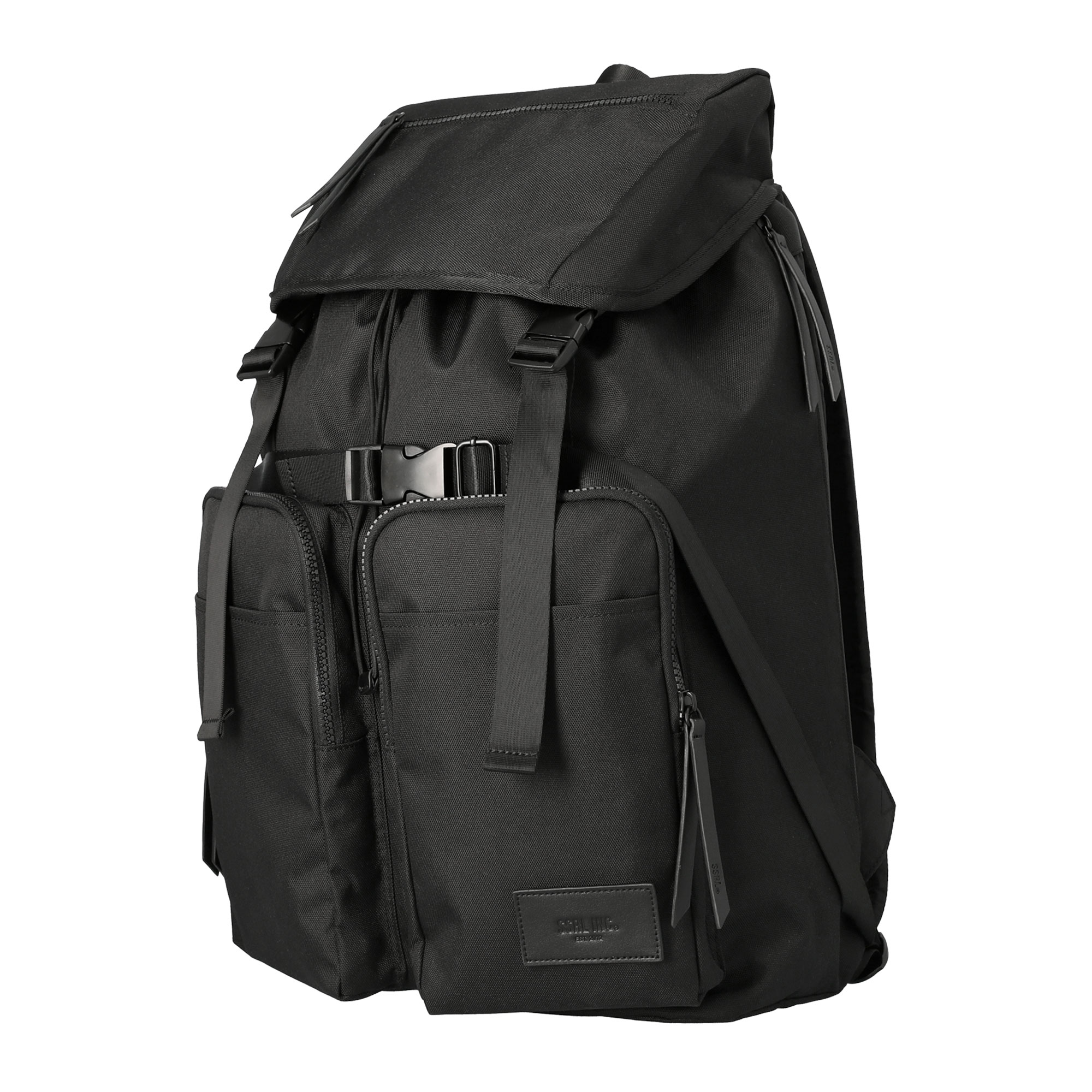 majestic dual pocket rucksack / black