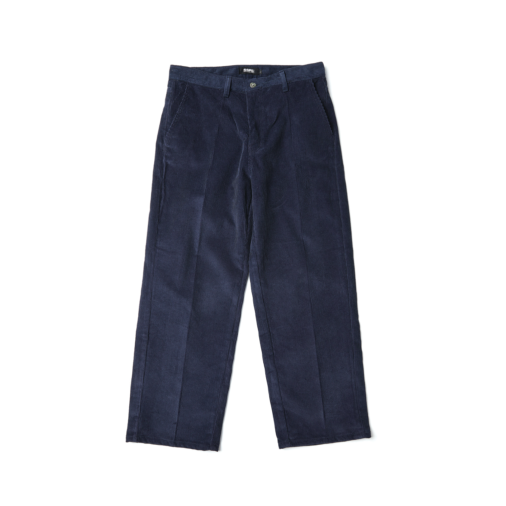 corduroy wide pants / navy