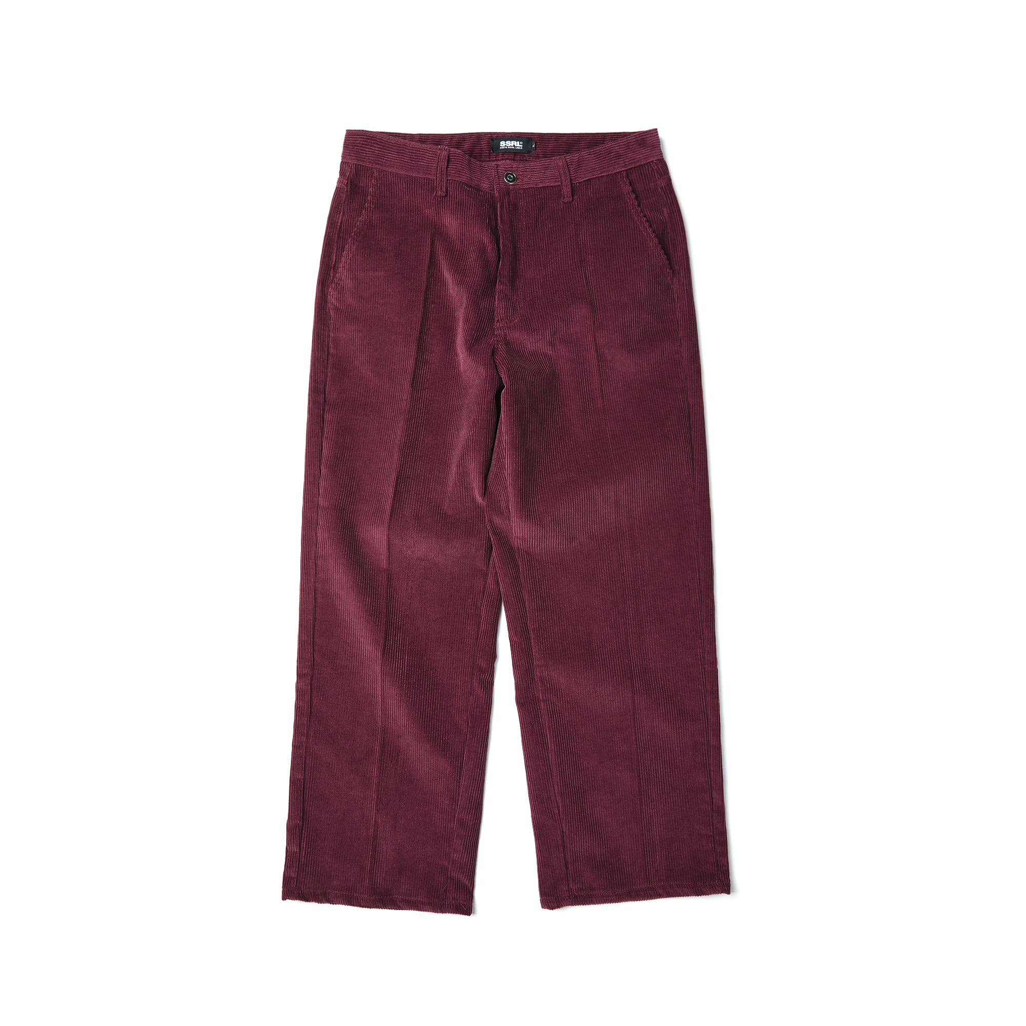 corduroy wide pants / wine