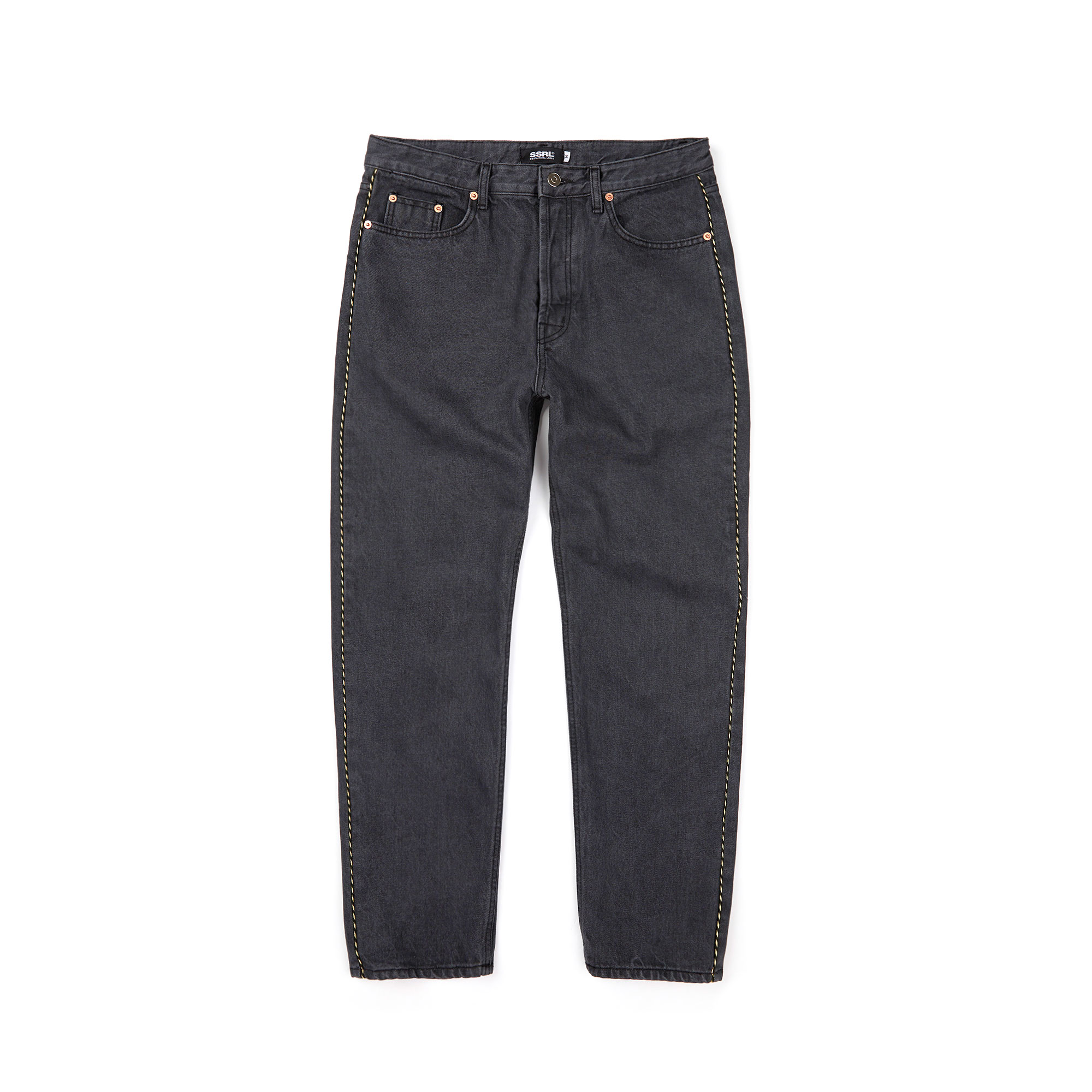 western denim pants / black