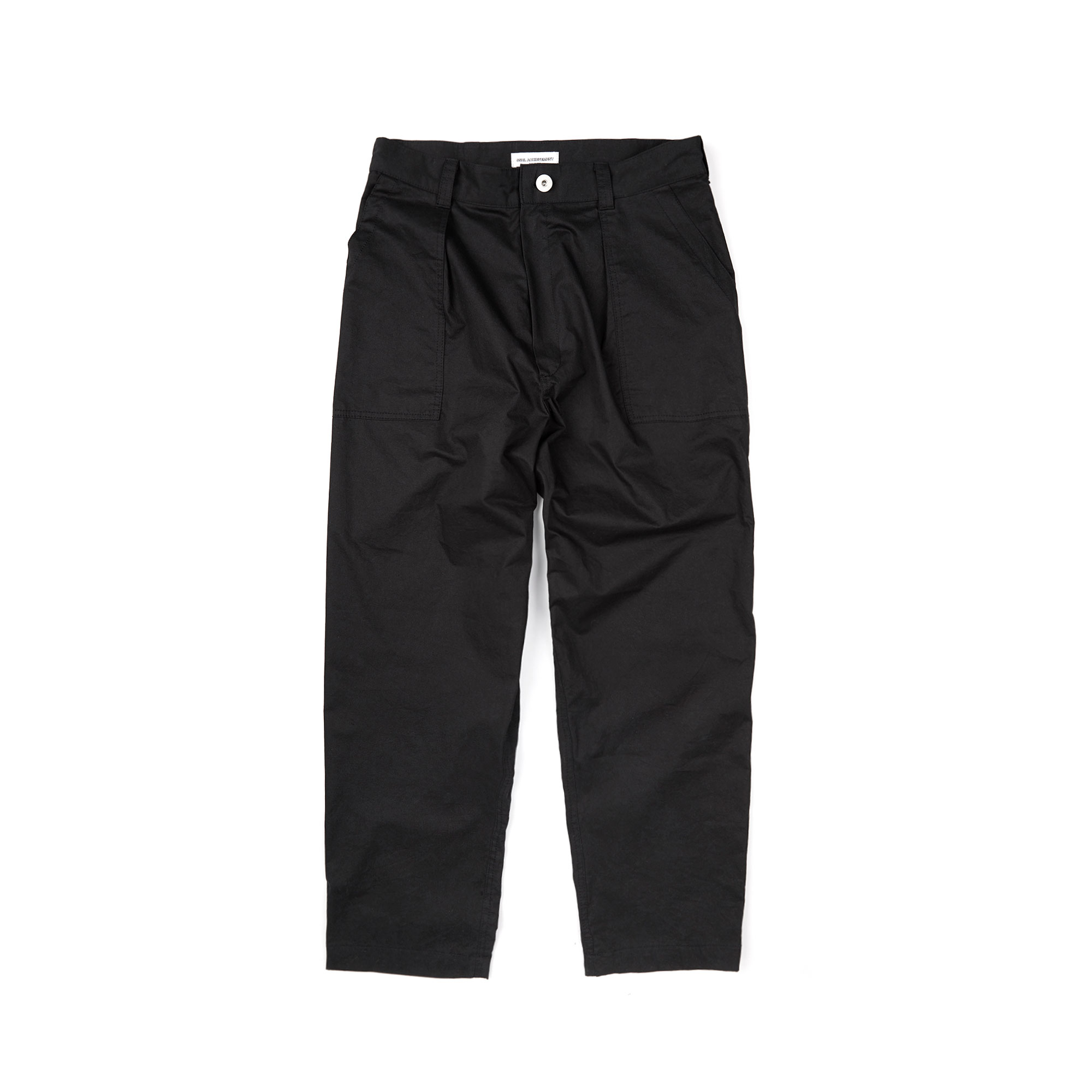 wide fatigue pants / black
