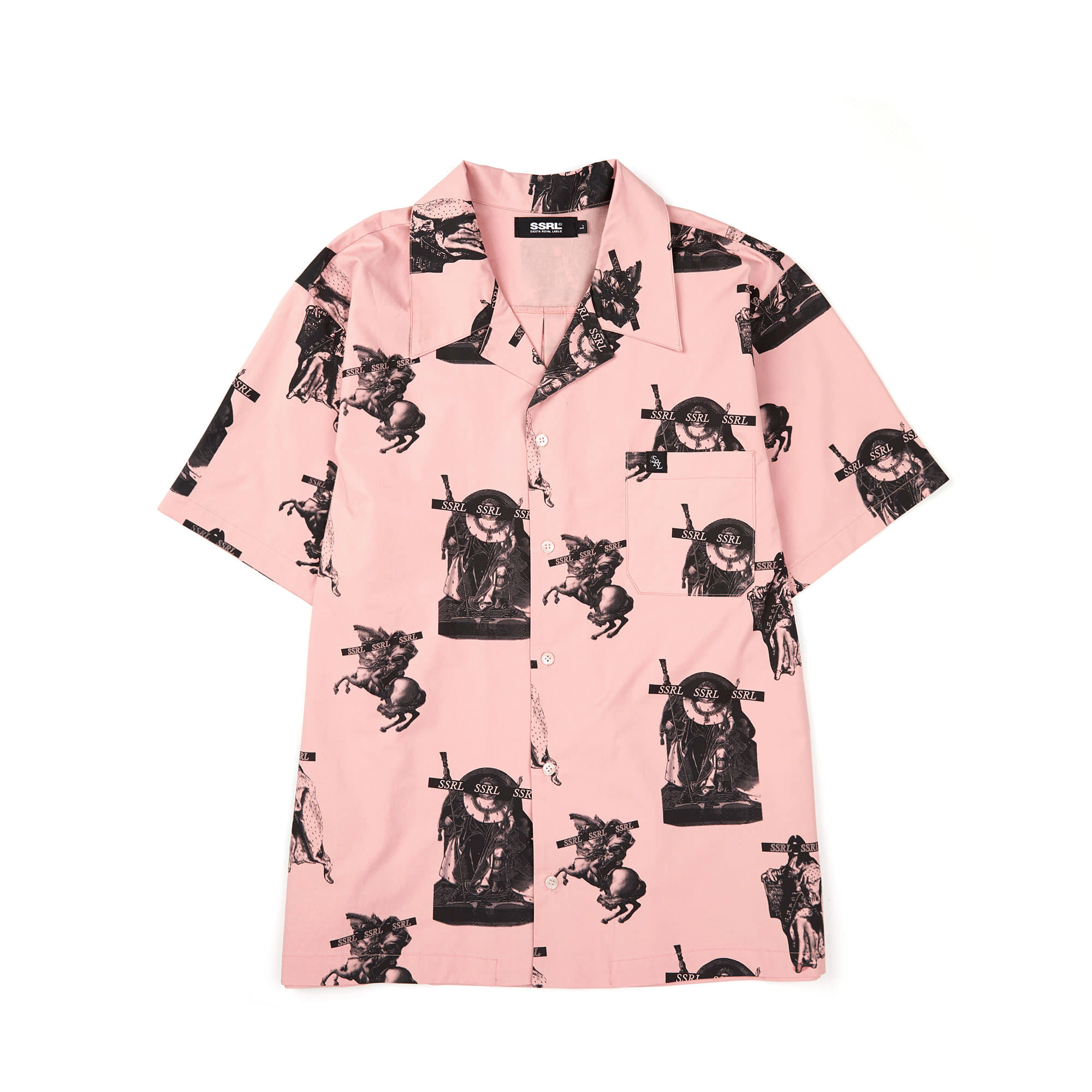 royal hawaiian shirt / pink
