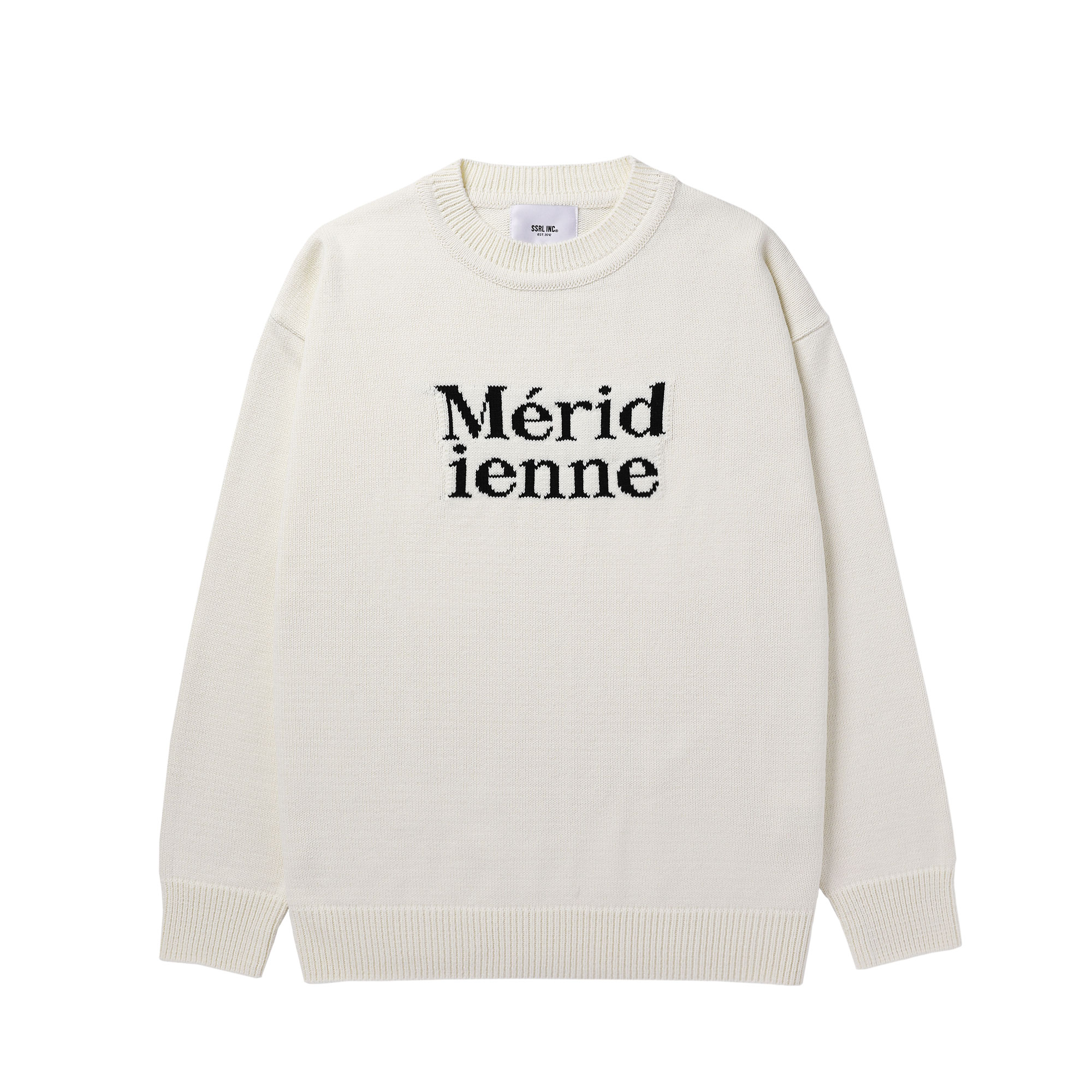 meridienne crew neck knit / ivory