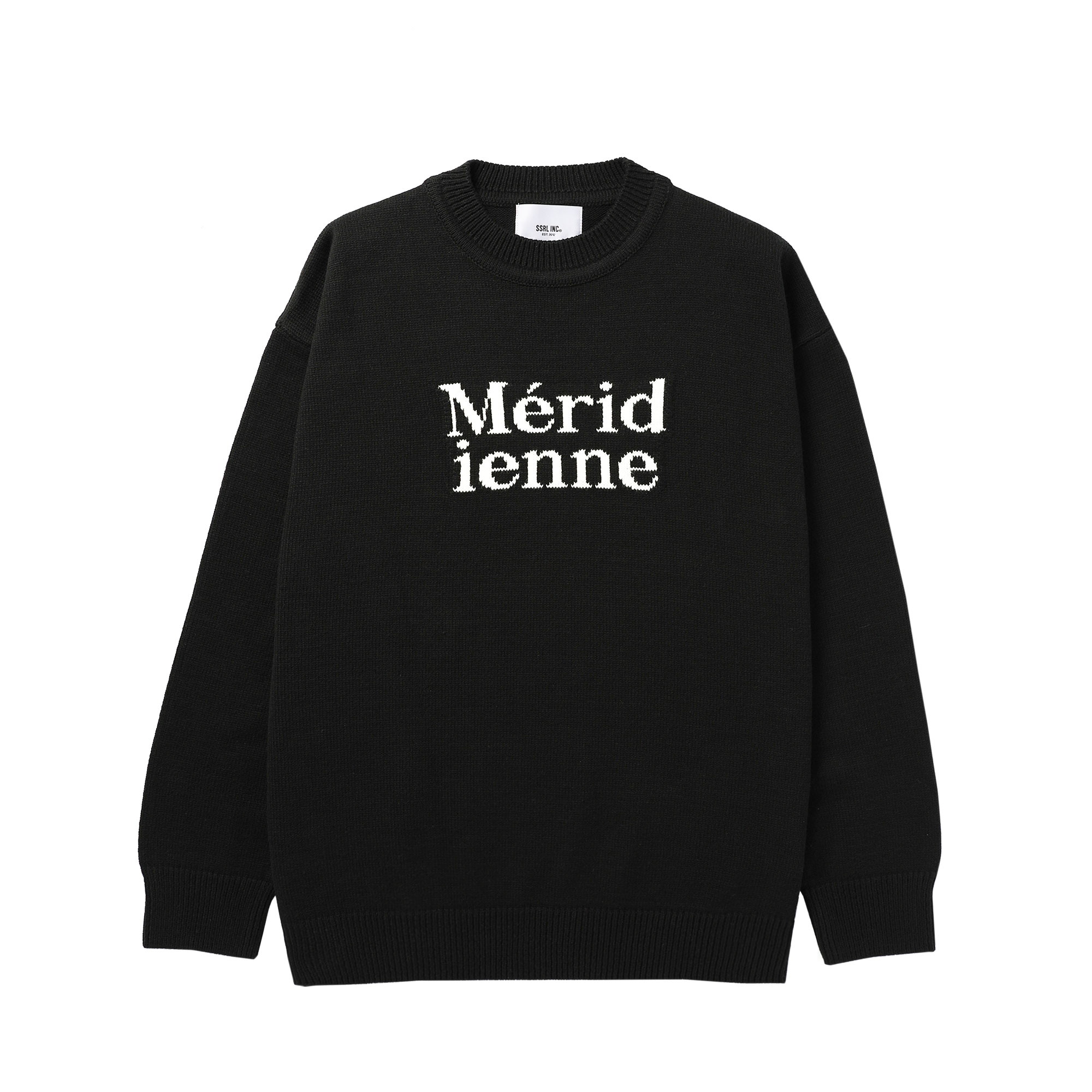meridienne crew neck knit / black