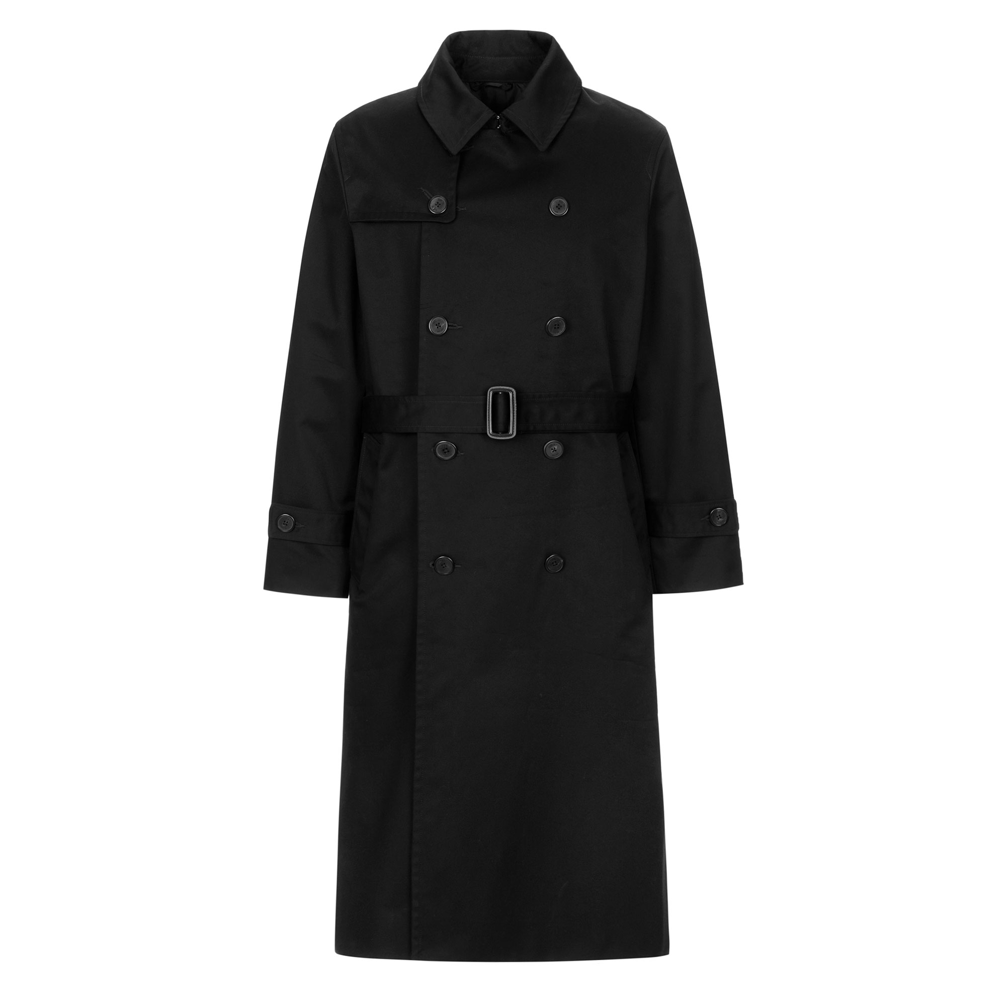 oversize trench coat / black