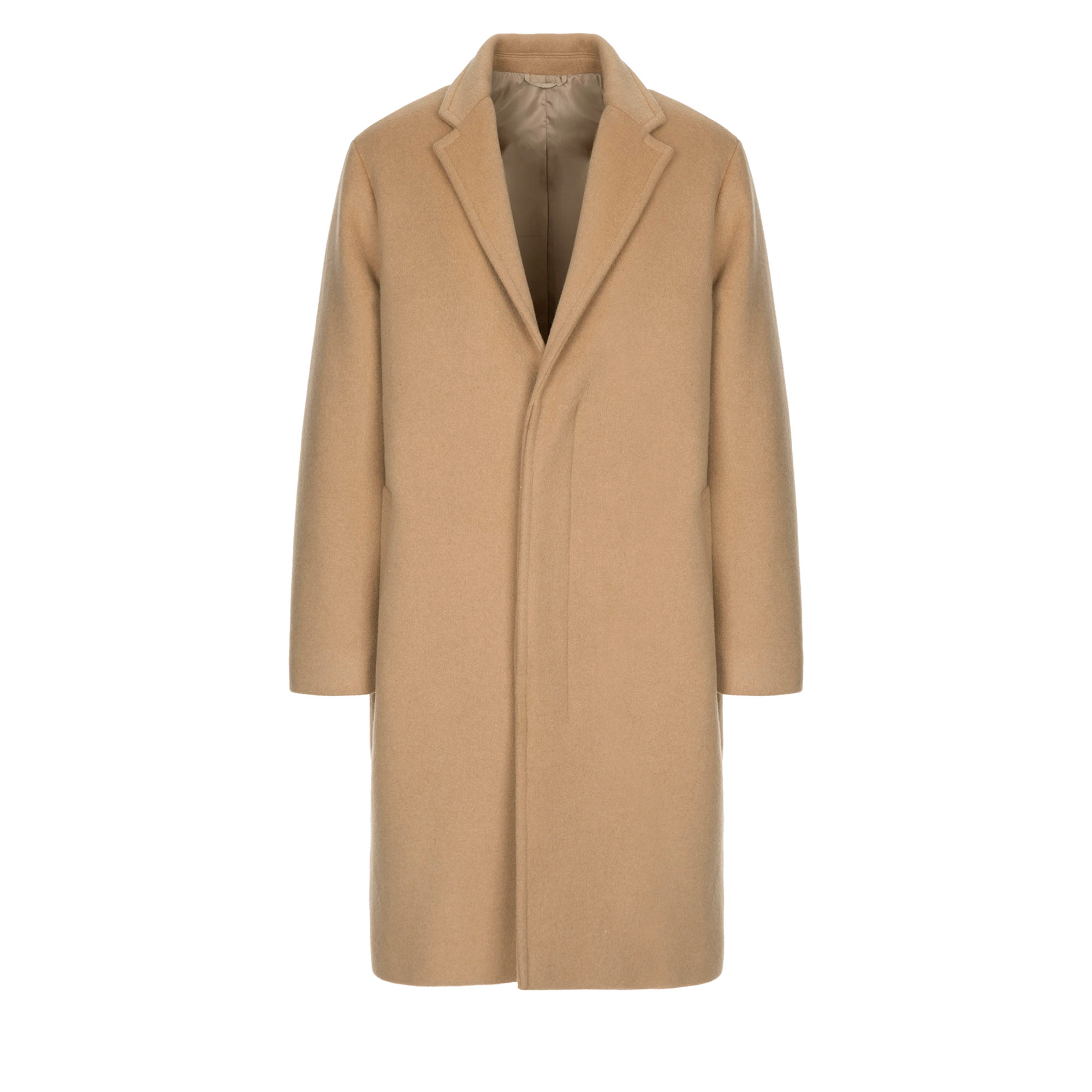 wool single coat / beige
