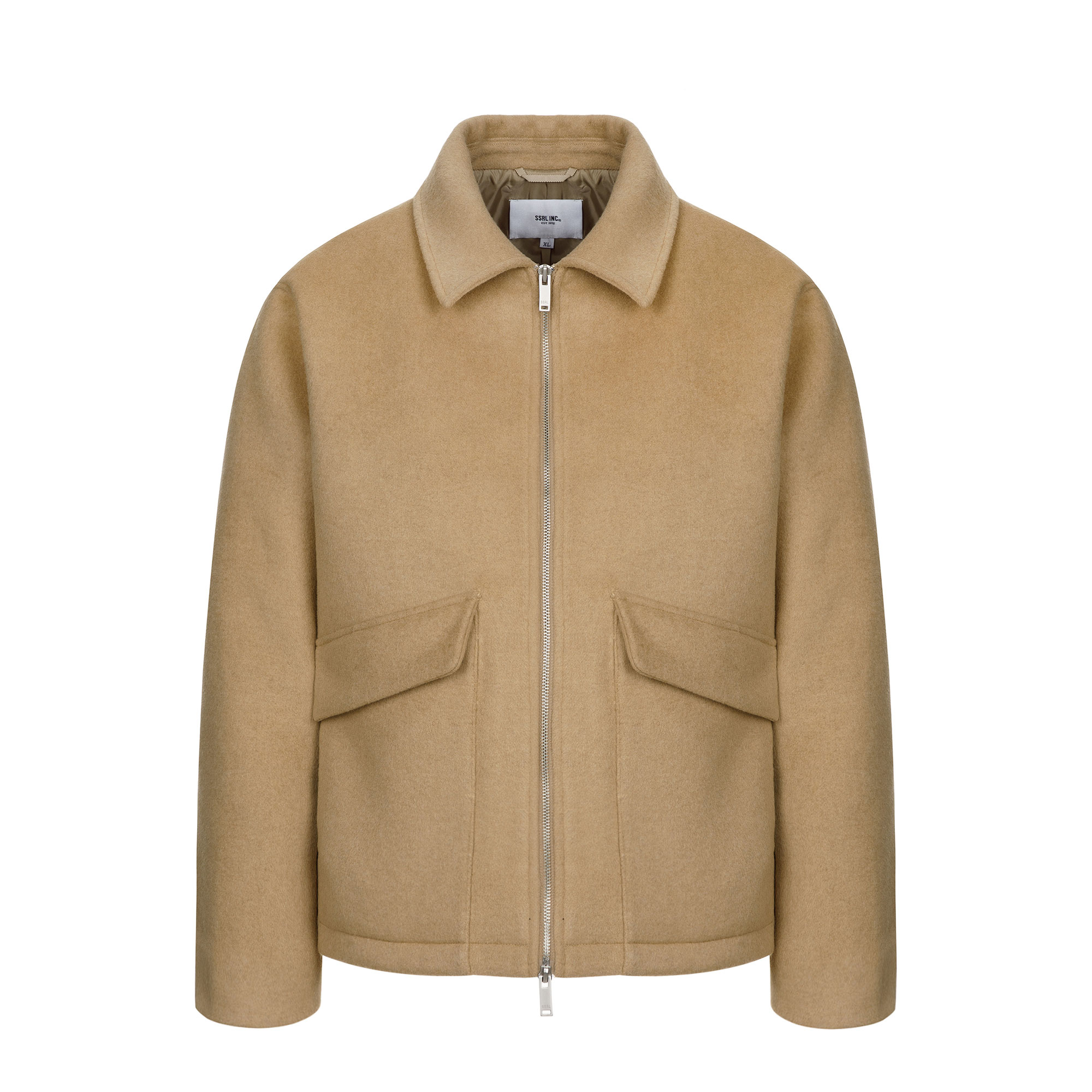 [10/5 예약배송] minimal wool zip-up jacket / beige