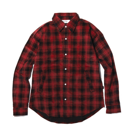 [60%]corduroy red check