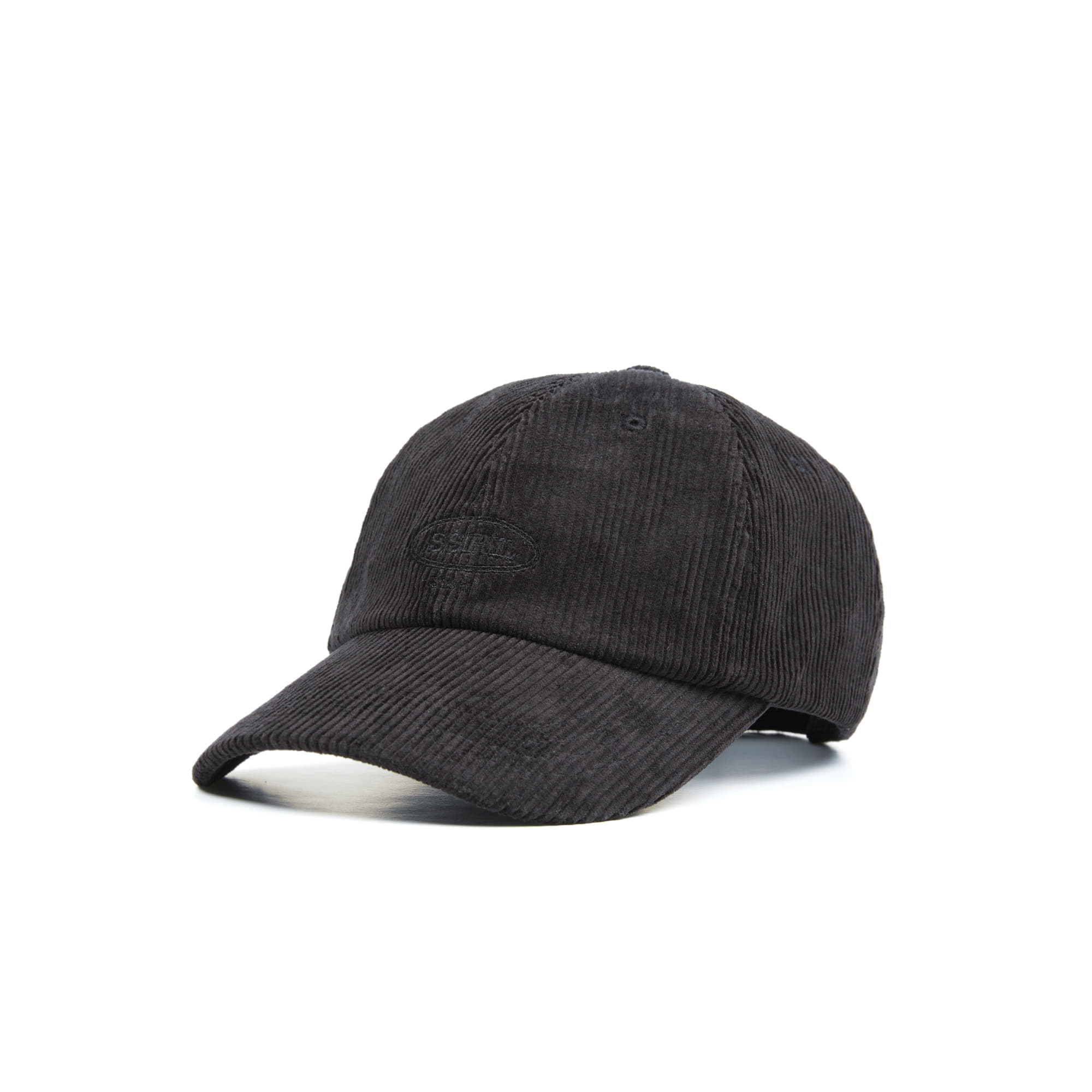 corduroy ball cap / black