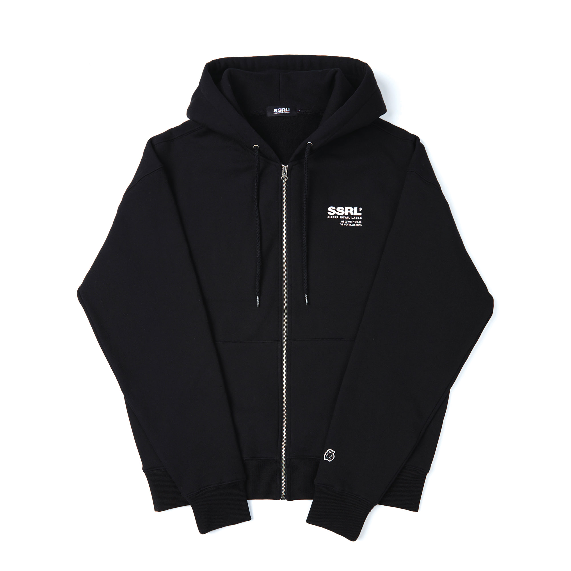 h-logo zip up / black