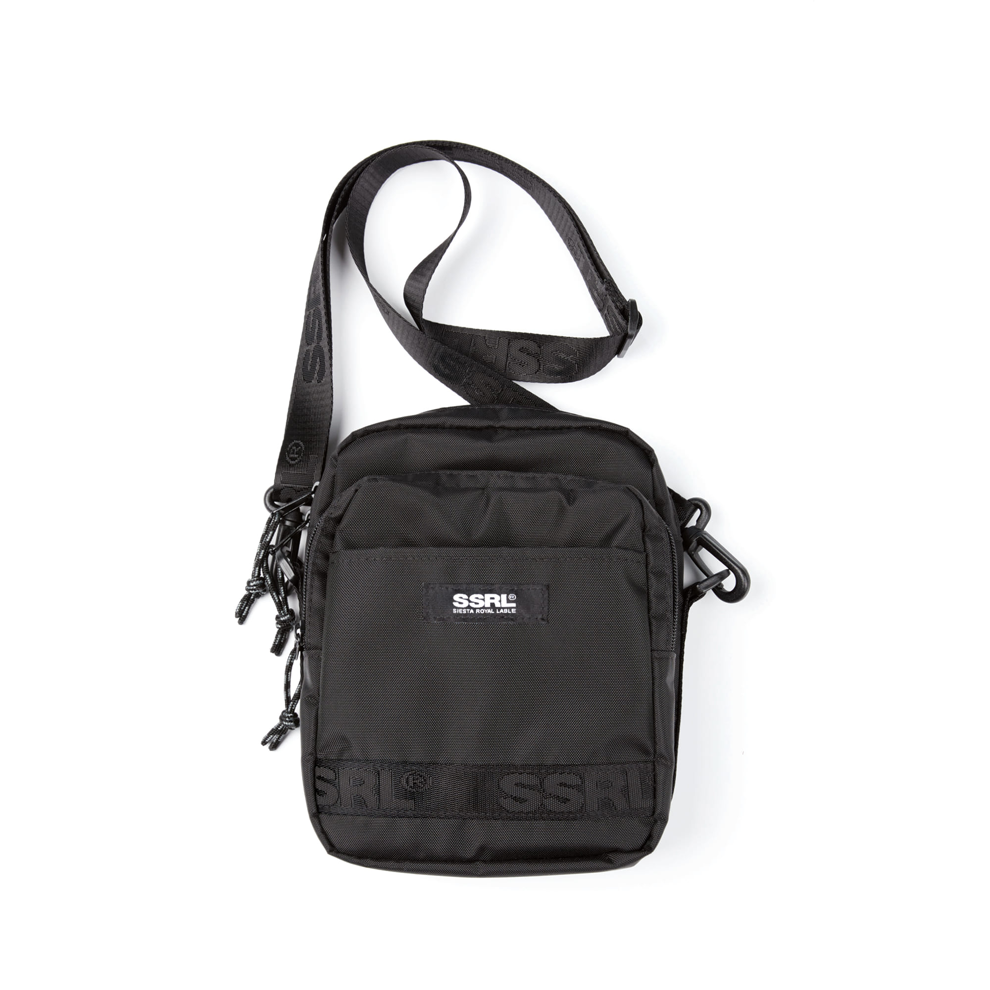 nylon cross bag / black