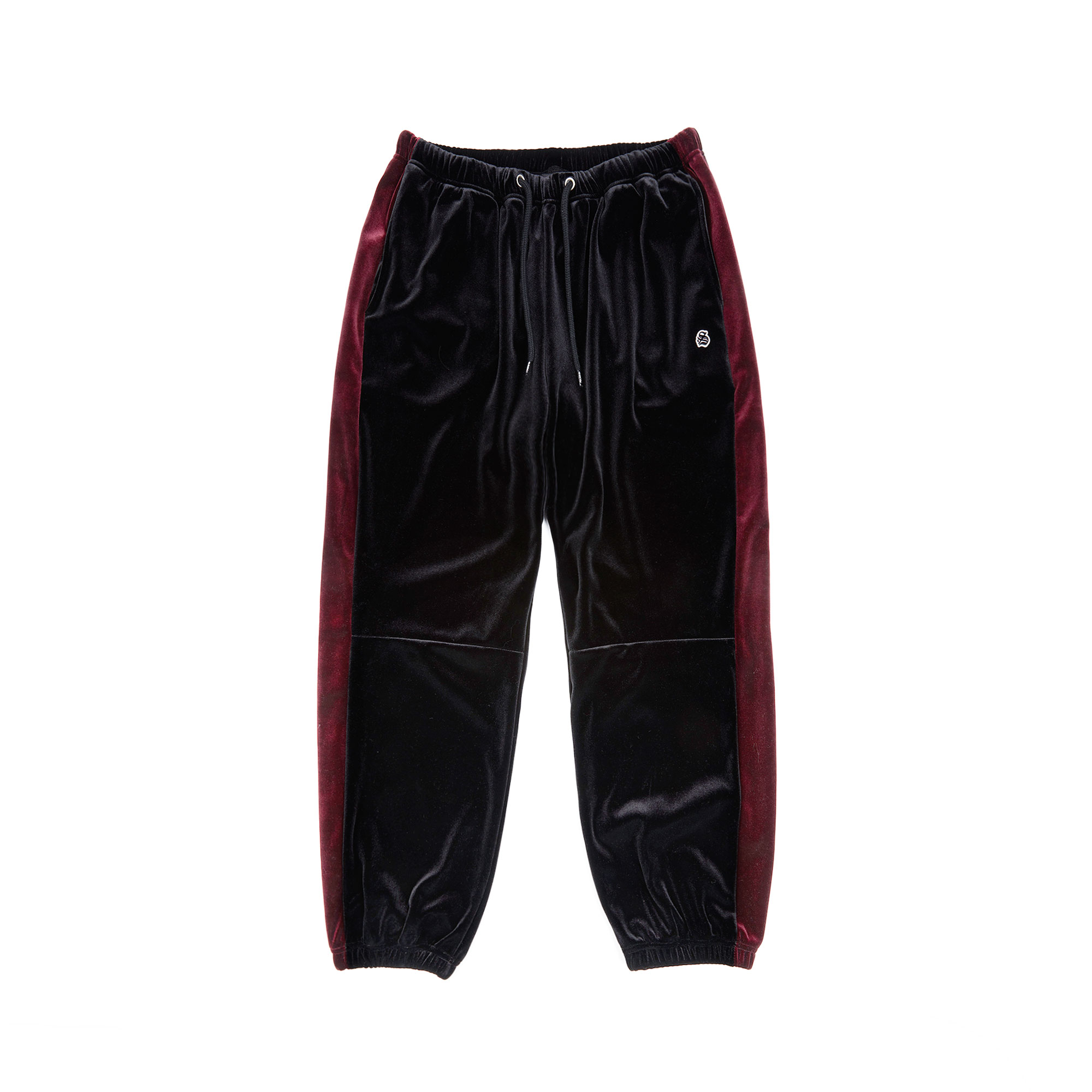 velour pants / black