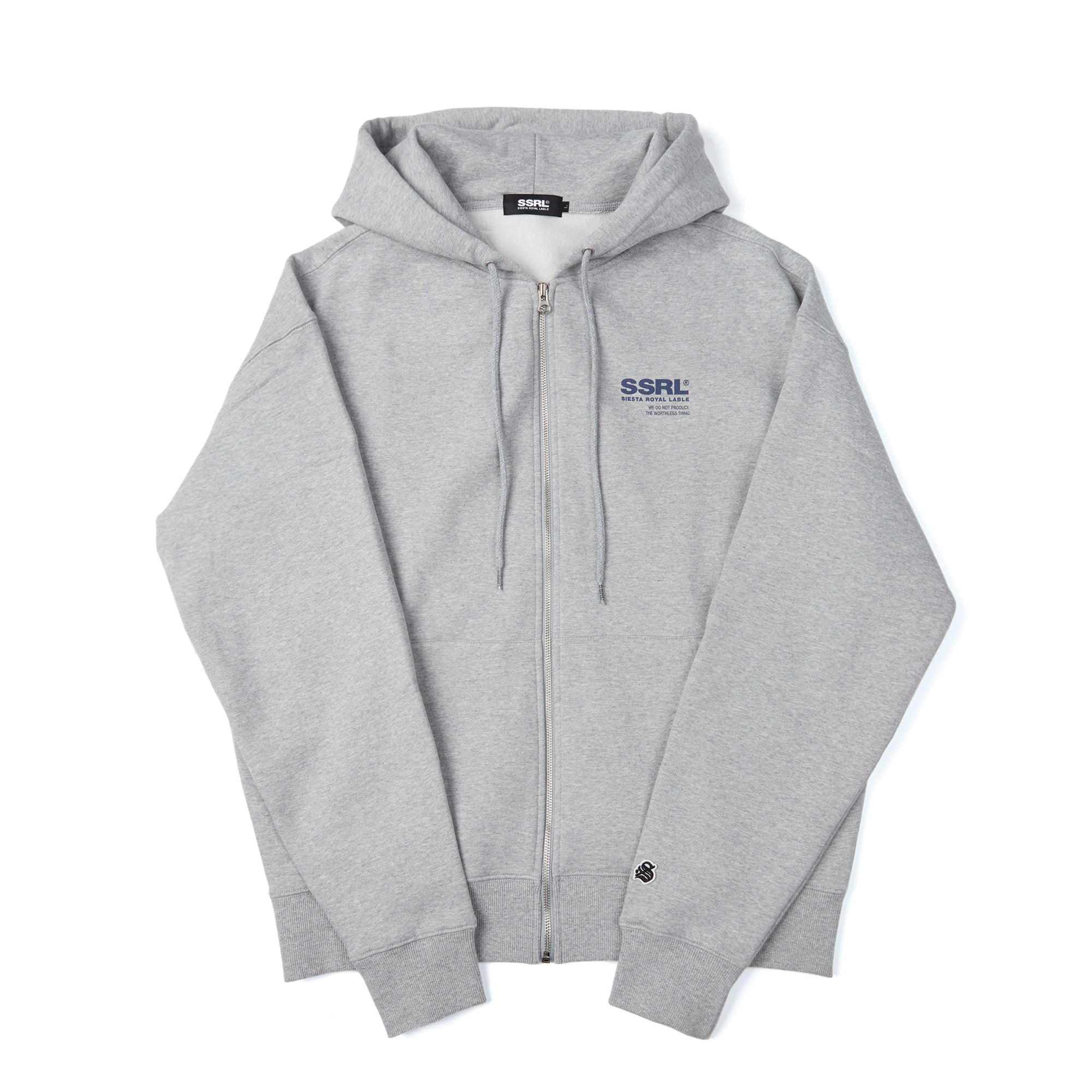 h-logo zip up / gray