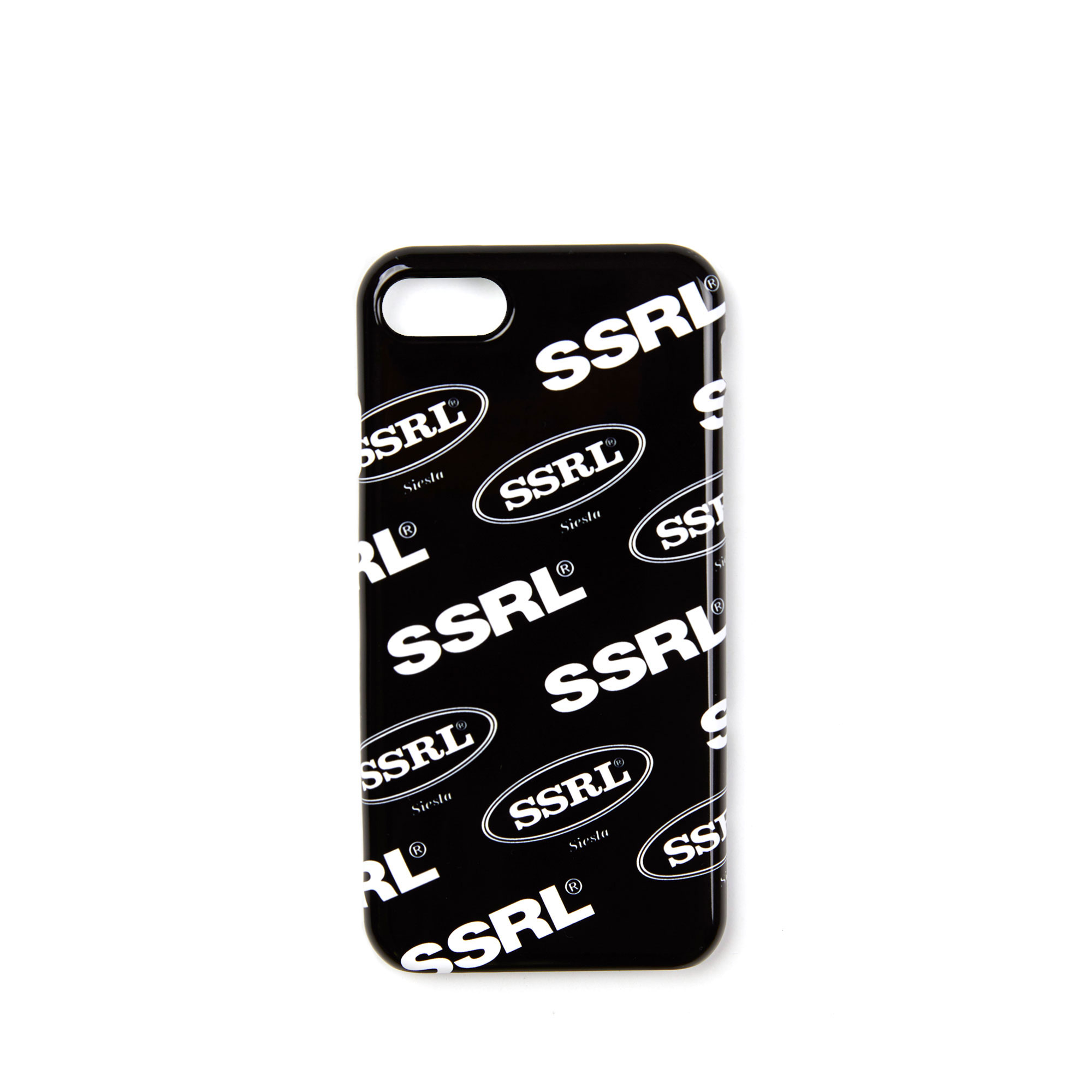 mix logo hard case / black-white