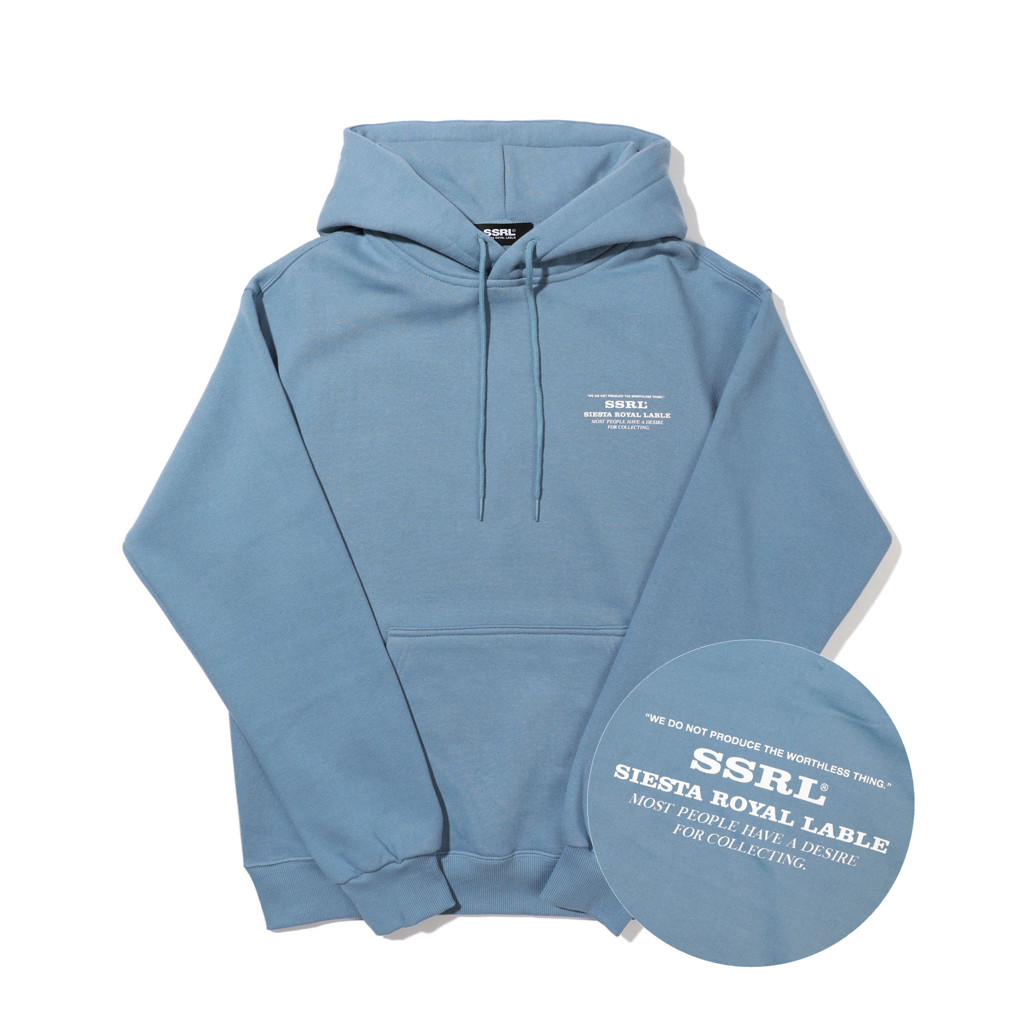 slogan hood / light blue